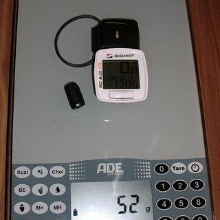 Gewicht Sigma Computer BC 8.12 ATS Weiß