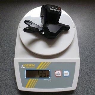 Gewicht Shimano Schalthebel Deore SL-M590 9-fach