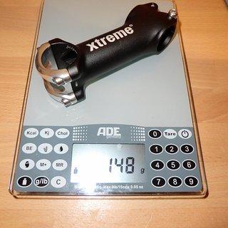 Gewicht Xtreme Vorbau Pro High Comfort 31,8mm, 100mm, 17°