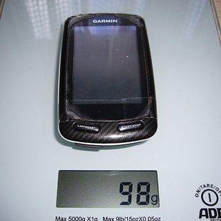 Gewicht Garmin GPS EDGE 800
