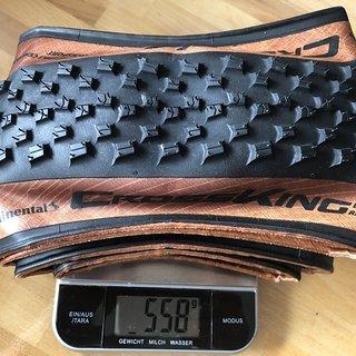 Gewicht Continental Reifen CrossKing RaceSport Edition Bernstein  55 x 622 (29 x 2.2)