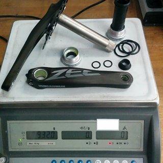 Gewicht Shimano Kurbelgarnitur Zee FC-M645 165mm, 36Z