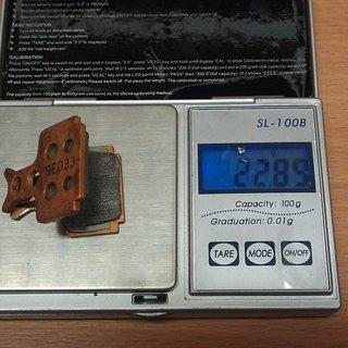 Gewicht Formula Bremsbelag FD40103-10 R1, RX, The One, Mega