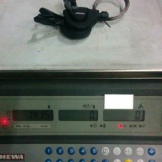 Gewicht Shimano Schalthebel Zee SL-M640 10-fach