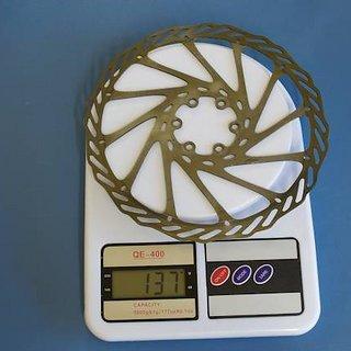 Gewicht Avid Bremsscheibe G3 CleanSweep 185mm