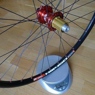 """Gewicht Hope Systemlaufräder Hope Pro 2 Evo + DT XM 450 + Sapim D-Light 26"""", HR, 142mm/X12"""