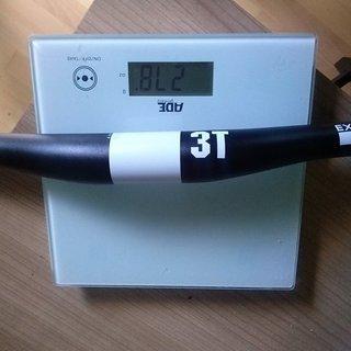 Gewicht 3T Lenker Flat Bar Extendo Pro sw 740mm 12°/0° 31,8