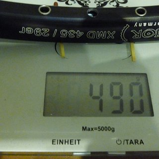 Gewicht BOR Felge XMD 435 29er