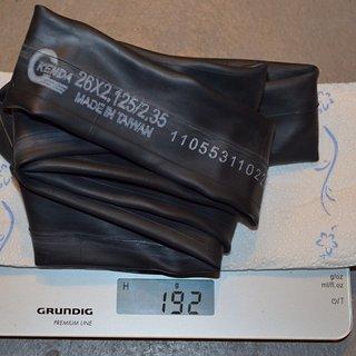 """Gewicht Kenda Schlauch MTB-Schlauch 26"""" x 2.125 / 2.35"""