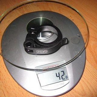 Gewicht Pro Parts Sattelklemme Clamp Quick Release 34,9mm
