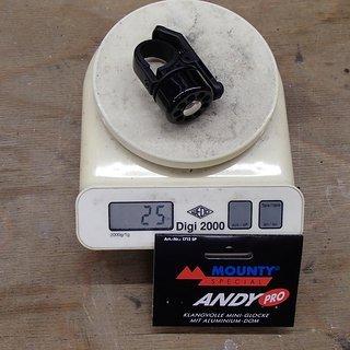"""Gewicht Mounty Special Weiteres/Unsortiertes Fahrradglocke """"Andy Pro"""" 22,2mm/25,4mm"""