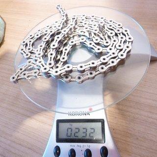 Gewicht KMC Chain Kette X 10 SL Silber 112 Glieder, 10-fach