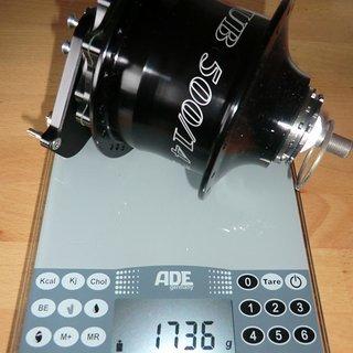 Gewicht Rohloff Nabenschaltungen Speedhub 500/14 135mm, 36 Loch, TS DB