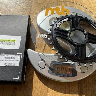 Gewicht Rotor Kettenblatt Q-Ring DM 32t