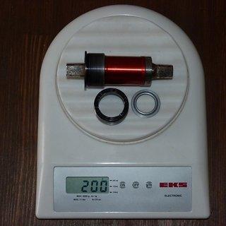 Gewicht Tune Innenlager AC 37 4-kant, 68/107mm, BSA