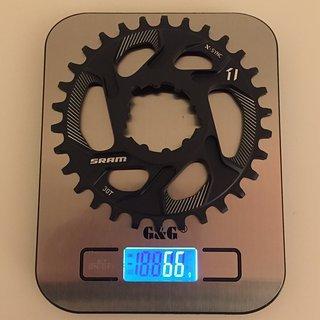Gewicht SRAM Kettenblatt X-Sync Direct Mount GXP, 30Z, 6 mm Offset