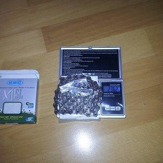 Gewicht KMC Chain Kette X 11 SL Silber 112 Glieder, 11-fach