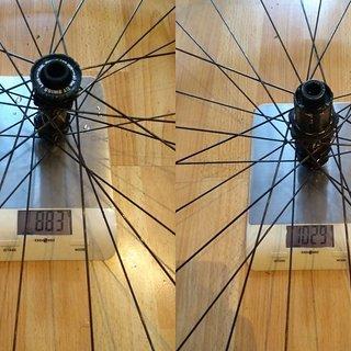 """Gewicht DT Swiss Systemlaufräder X1900 29"""""""