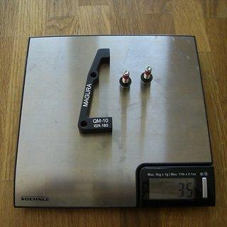 Gewicht Magura Scheibenbremsadapter Adapter QM-10 IS >>> PM +40