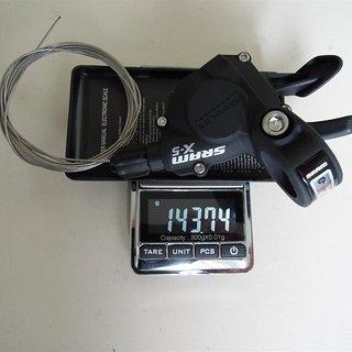 Gewicht SRAM Schalthebel X5 Trigger 9-fach