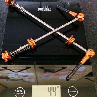 Gewicht Carbon Ti Schnellspanner Titan_Carbon 100mm, 135mm