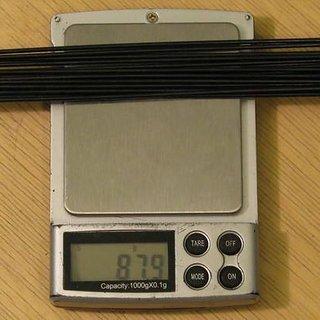 Gewicht DT Swiss Speiche Competition 258mm, 15 Stück