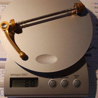 Gewicht Hope Schnellspanner Schnellspanner 110mm