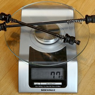 Gewicht BBB Spannachse Wheelfixed BQR-03 100mm, 135mm