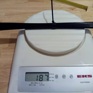 Gewicht CN Spoke Speiche MAC Butted DB454 264mm, 32 Stück