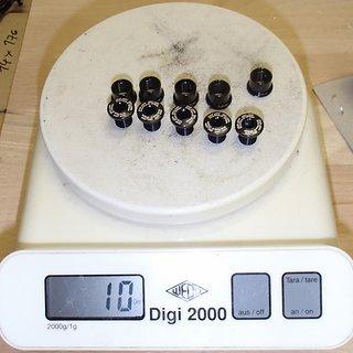 Gewicht KCNC Kettenblattschrauben Kettenblattschrauben M8x8mm, 5x