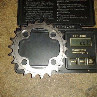 Gewicht Shimano Kettenblatt XTR FC-M970 64mm, 22Z