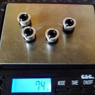 Gewicht Tune Kettenblattschrauben Kettenblattschrauben M8x8mm, 4x