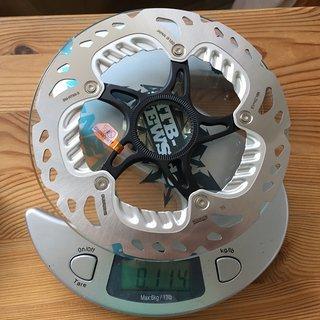 Gewicht Shimano Bremsscheibe SM-RT99S 160 mm
