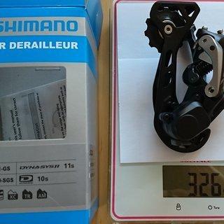 Gewicht Shimano Schaltwerk SLX RD-M7000-11 GS GS 11 fach