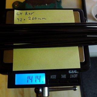 Gewicht Sapim Speiche CX Ray 260mm, 32 Stück