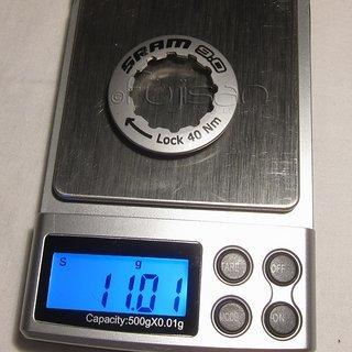 Gewicht SRAM Kassettenabschlussring 9.0 11Z