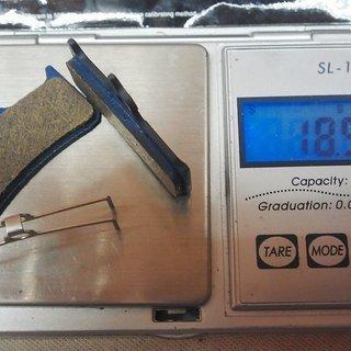 Gewicht Superstar Components Bremsbelag H4 - Organic - Shimano XT (BR-M755) - Grimeca 8/12 - Hope Mono 4/5