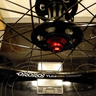 "Gewicht No-Name Systemlaufräder The P.O.G. MTB Disc - Ryde Yura 28 - cnSpoke DB454 28"", VR, 100mm/QR"