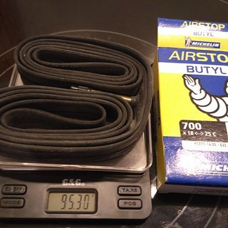 """Gewicht Michelin Schlauch A1 Airstop Butyl SV/28x0.75-1.0"""""""