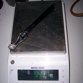 Gewicht Fox Racing Shox Spannachse Steckachse 15 mm