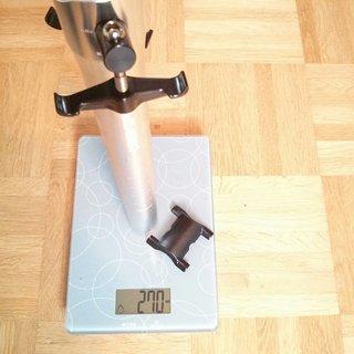 Gewicht Sixpack Sattelstütze Leader 30.9 x 350mm