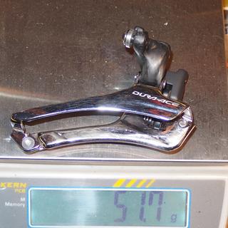 Gewicht Shimano Umwerfer DA 7900 / Hopp Carbon Anlöt
