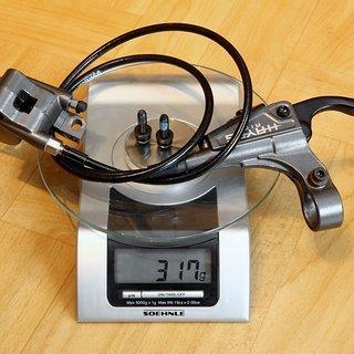 Gewicht Hayes Scheibenbremse HFX 9 VR, 900mm