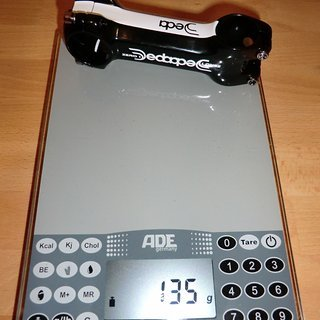 Gewicht Deda Vorbau Zero 1 31.8mm, 100mm, 6°