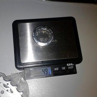 Gewicht Shimano Kassettenabschlussring XT CS-M770 11Z