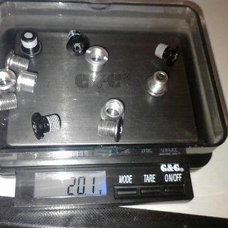 Gewicht Shimano Kettenblattschrauben XF FC-M780 (Set)