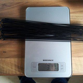 Gewicht Sapim Speiche D-Light Schwarz 258mm, 64 Stück