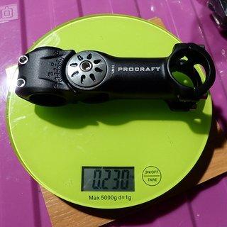 Gewicht Procraft Vorbau 4Bolt Adjustable Ahead 125