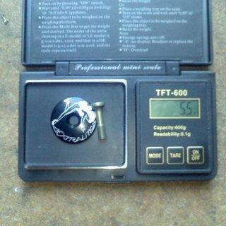 """Gewicht Extralite Ahead-Kappe TopCap 1 1/8"""""""