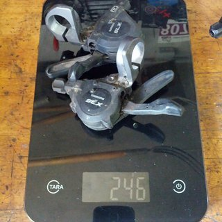 Gewicht Shimano Schalthebel SLX SL-M660-10 3x10-fach
